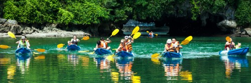 Halong Bay activities listing, photo by Bhaya Cruises